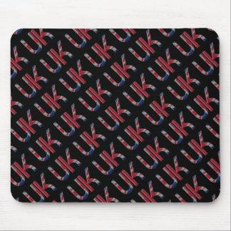 The UK Union Jack British Flag Typography Elegant Mouse Pad