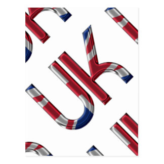 The UK Union Jack British Flag Typography Elegant Postcard