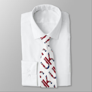 The UK Union Jack British Flag Typography Pattern Tie