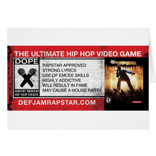 The Ultimate Hip-Hop Video Game Greeting Card