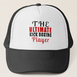 THE ULTIMATE KICK BOXING FIGHTER TRUCKER HAT