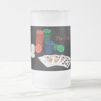 The Ultimate Poker Hand Frosted Glass Beer Mug
