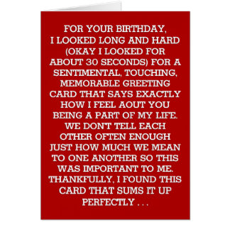 The Ultimate Sentimental Birthday Message (Vodka) Card