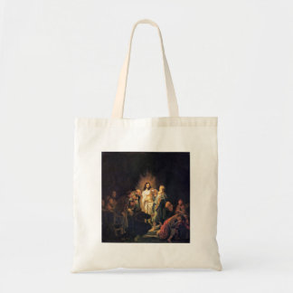 The unbelieving Thomas by Rembrandt Canvas Bag