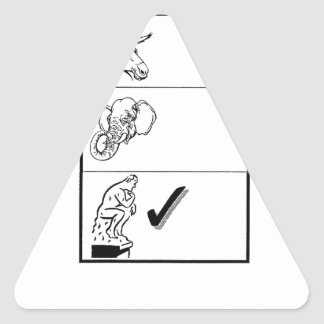 The Uncommitted Party Triangle Sticker