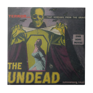 The Undead Zombie Movie Ceramic Tile