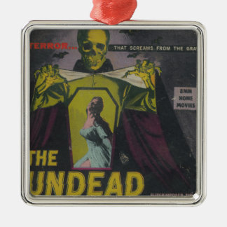 The Undead Zombie Movie Metal Ornament