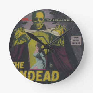 The Undead Zombie Movie Round Clock