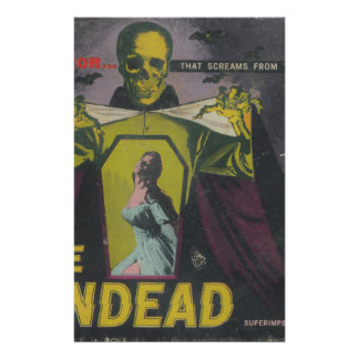 The Undead Zombie Movie Stationery