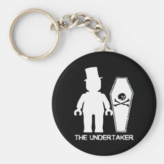 The Undertaker by Customise My Minifig Basic Round Button Key Ring