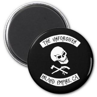 The Unforgiven Skull 6 Cm Round Magnet