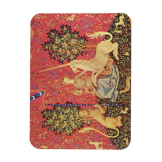The Unicorn and Maiden Medieval Tapestry Image Magnet