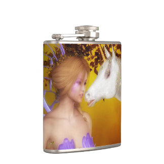 The Unicorn and the Fairy Hip Flask