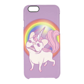 The Unicorn Frenchie Clear iPhone 6/6S Case