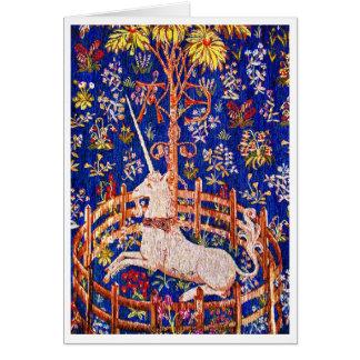 """The Unicorn in Captivity"" Card"
