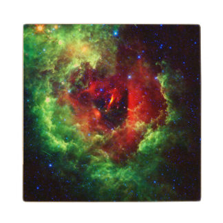 The Unicorns Rose Rosette Nebula Wood Coaster