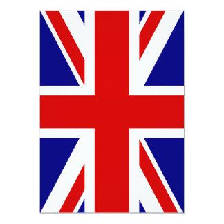 The Union Jack Flag 13 Cm X 18 Cm Invitation Card