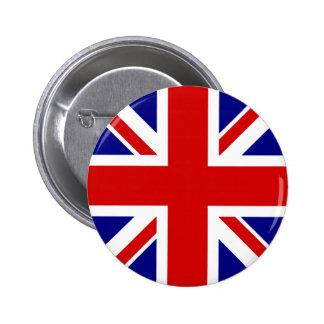 The Union Jack Flag 6 Cm Round Badge