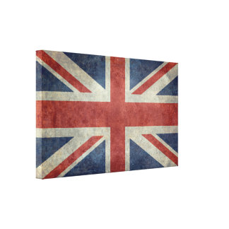 The Union Jack flag of the UK - Vintage retro Canvas Print