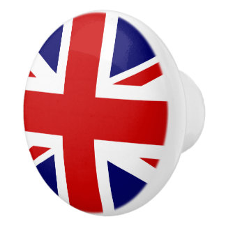 The Union Jack Flag of the United Kingdom Ceramic Knob