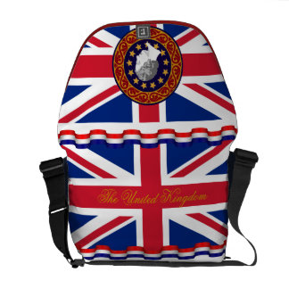 The United Kingdom Queen Monogram Messenger Bag