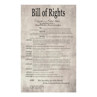 The UNITED STATES BILL of RIGHTS 2 Print