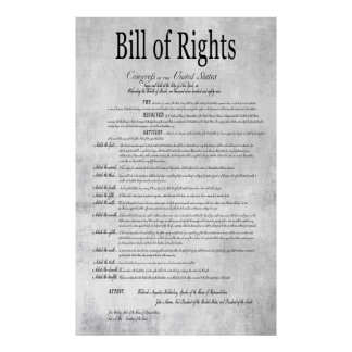 The UNITED STATES BILL of RIGHTS 3 Poster