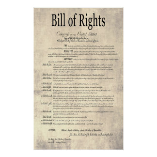 The UNITED STATES BILL of RIGHTS 4 Print