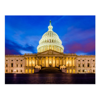 The United States Capitol at blue hour Postcard