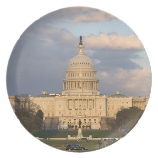 The United States Capitol Building in Dinner Plates