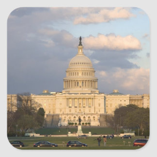 The United States Capitol Building in Square Sticker