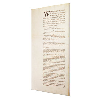 The United States Constitution, 1787 Stretched Canvas Print