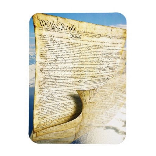 The United States Constitution Above the Earth Vinyl Magnet