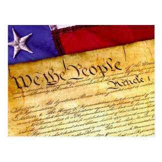 The United States Constitution Postcard