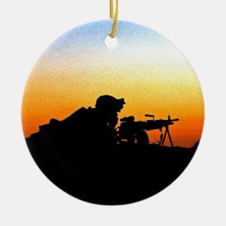 The United States Marine Corps' Hymn Round Ceramic Decoration