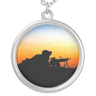 The United States Marine Corps' Hymn Round Pendant Necklace
