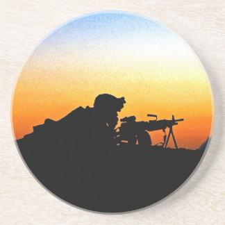 The United States Marine Corps' Hymn Sandstone Coaster
