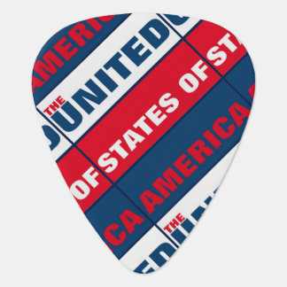 The United States of America Guitar Pick