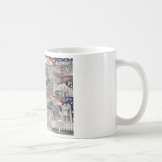 The United States of America pencil Drawing Basic White Mug