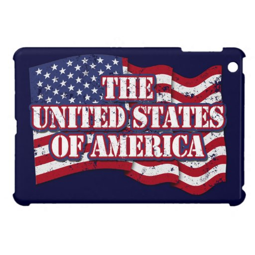 The United States of America with flag distressed Cover For The iPad Mini