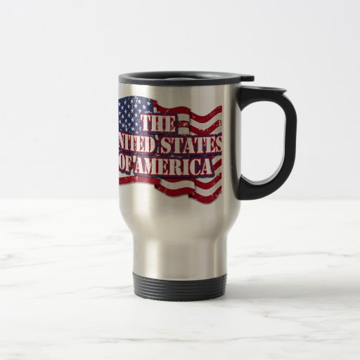 The United States of America with flag distressed Coffee Mug