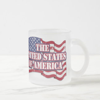 The United States of America with flag distressed Coffee Mugs