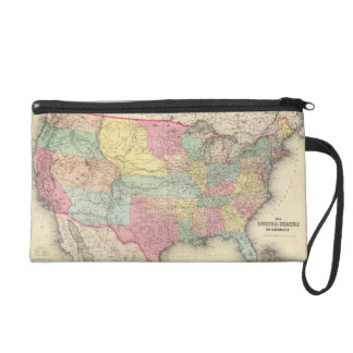 The United States Of America Wristlet Clutch