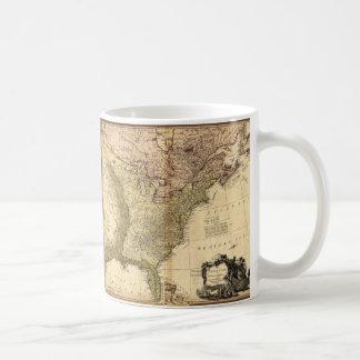 The United States of North America Map (1784) Basic White Mug