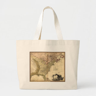 The United States of North America Map (1784) Jumbo Tote Bag