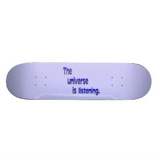 The Universe is Listening - blue background Custom Skateboard