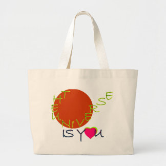 the universe is you large tote bag