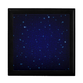 The Universe with Blue Stars Large Square Gift Box
