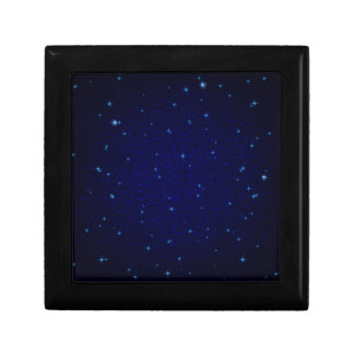 The Universe with Blue Stars Small Square Gift Box