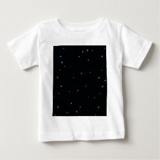 The Universe with Gold and Blue Stars Baby T-Shirt